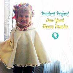 1-Yard Fleece Hooded Poncho