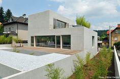 Modern concrete residence in  Ljubljana, Slovenia. Architects: Bevk Perovic Arhitekti