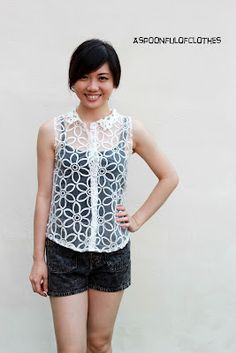 MAGNOLIA- Flowers Embroidery Top - RM35