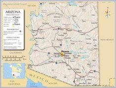 Map of Arizona Cities MAPS Pinterest City