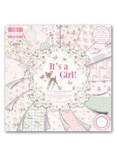 The Good Craft Shop: The First Edition It's A Girl 6x6 Paper Pack is the beautiful artwork of Cavania London who has been licensed to create this charming collection of papers. The vintage designs and soft pastel colour palette make the collection a delight to craft with.The paper pack includes 64 6x6 sheets within the pad with glitter, fabric, foil effects and half double sided design. Also included is a sticker sheet for adding extra detail to projects. Acid and lignin free and 200 gsm.
