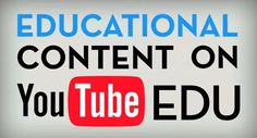 YouTube EDU brings learners and educators together in a global video classroom.