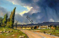 Towards Evening by Dale Elliot -Dante Art Gallery Watercolor Landscape, Landscape Art, Landscape Paintings, Watercolor Art, Landscape Photography, Art Photography, South African Artists, Country Art, Pictures To Paint