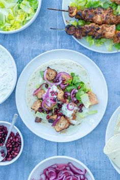 Chicken Shish Kebabs Shish Kebab, Kebabs, Diced Chicken, Midweek Meals, Tzatziki, Chicken Thighs, Easy Peasy, Summer Recipes, Pasta Salad
