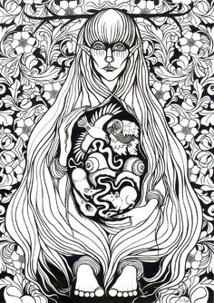 Loviartar - Finish myth about the blind dead Goddess who was mother of the nine diseases.