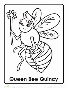 Queen Bee Coloring Pag...