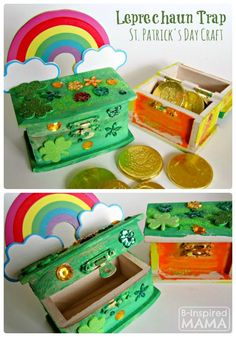 Leprechaun Trap Box St. Patrick's Day Craft for Kids at B-Inspired Mama
