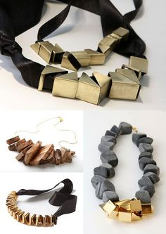 Statement Jewellery - big chunky beads, contrasting materials