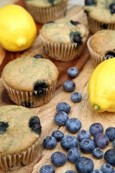 Low-Sugar, High-Protein Lemon Blueberry Protein Muffins