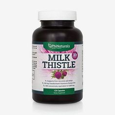 Milk Thistle Liver Cleanse Support Detox Silymarin Extra Strength Extract of 150 mg Silybum Marianum All Natural Organic Boost Immunity Detox Supplement NonGMO Made in USA 120 Caps >>> Check out this great product. (This is an affiliate link) Milk Thistle Extract, Detox Supplements, Natural Liver Detox, Chicory Root, Grape Seed Extract, Healthy Liver, Liver Cleanse, Detox Tips