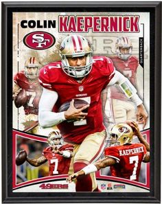 Colin Kaepernick Sublimated 10X13 Player Plaque | Details: San Francisco 49Ers by Mounted Memories. $26.99. Each collectible comes with a collage of images of Colin Kaepernick sublimated onto a black plaque. It measures 10 1/2 x13x1 and is ready to hang in any home or office.