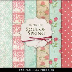 Far Far Hill: Freebies Backgrounds Kit - Soul of Spring