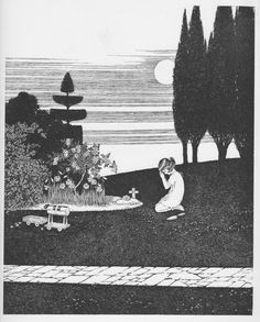 Ida Rentoul Outhwaite 'The Bird's Funeral' 1931 | eBay