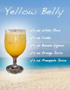 Mixed Drink Recipes | YELLOW BELLY