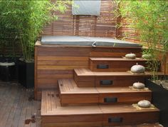 hot tub corner