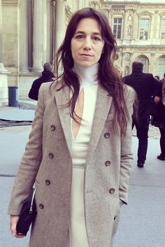 Charlotte Gainsbourg at the Louis Vuitton Fashion Show. #PFW #LVlive ©E. D'Angelo