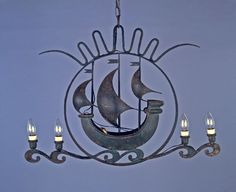 Hanging Lamp Sailing Ship lamp, by Giò (Giovanni) Ponti (Designer, attributed), date unknown. Ponti, Designs To Draw, Chandelier, Ceiling Lights, Lighting, Drawings, Home Decor, Candelabra, Decoration Home