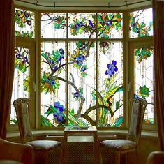 Glas-in-lood / stained glass Stained Glass Door, Stained Glass Flowers, Stained Glass Designs, Stained Glass Panels, Stained Glass Patterns, Leaded Glass, Mosaic Glass, Deco Originale, Decoration