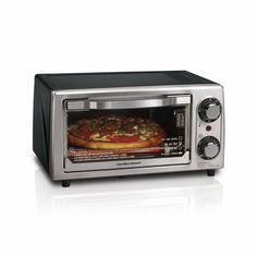 New Hamilton Beach 31139 4 Slice Kitchen Electric Home Toaster Oven Bake/Broil Eating Raw, Clean Eating, Best 4 Slice Toaster, Stainless Steel Oven, Hamilton Beach, Oven Range, Patio