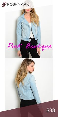 """🍂COMING SOON Light Denim Jacket Light Denim Jacket. Great for the Winter time. Available in sizes. S M L . Comment to be notified when available. 🍂 B: 16""""  W: 15""""  L: 18 1/2"""" Jackets & Coats Jean Jackets"""