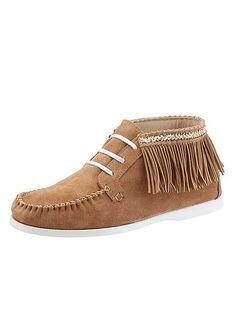Arizona Boots im Indianer-Look mit Fransen – cognac
