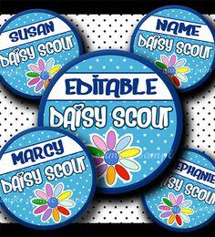 INSTANT DOWNLOAD Editable JPG Daisy Girl Scouts Petals (605) 4x6 Bottle Cap Images Digital Collage Sheet bottlecaps hair bows bottlecap on Etsy, $2.50