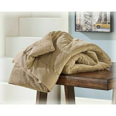 "Conner caramel micro mink plush pile reversible machine washable throw blanket. Clearance Measures 50"" x 60"" SKU 	A1000034 Clearance"