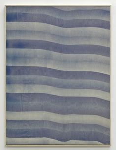 Hugh Scott-Douglas Untitled Cyanotype on linen 40 x 30 inches 2011