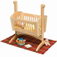 Aspiring moms will find this scaled-down-version of a pendulum baby cradle the perfect place for a 15 inch long American Girl Bitty Baby Doll to beauty-nap. It makes a great gift anytime.