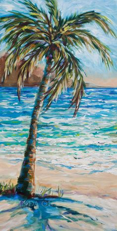 For a couple of months I have been working on this series of Island Palms. Each gallery wrap painting is 15x30 and done in Acrylics. I think that they would really lend a tropical flair to a room and are small enough to easily ship. Inquire about these very affordable originals. They give me a happy feeling!