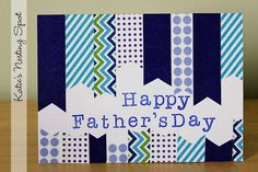 Katies Nesting Spot: Happy Fathers Day: Washi Tape Card