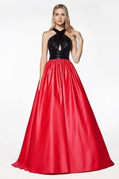 Long Satin Dress with Keyhole Bodice by Cinderella Divine Long Sleeve Evening Gowns, Long Prom Gowns, Formal Evening Dresses, Formal Gowns, Gown With Slit, Satin Dresses, Satin Skirt, Pagent Dresses, Dance Dresses