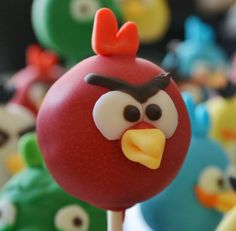 Angry Birds Cake Pops and M&Ms Cake