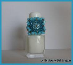 Anillo 9 Flores de Swarovski en tonos azules
