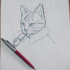 고양이탐정그리기