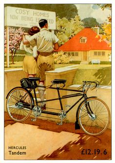 vintage We had a bicycle built for two growing up. So much fun to ride!
