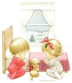 niños rezandoBy ; Maria Elena Lopez Mamam donde estan los juguetes .El nino no los trajo!
