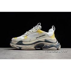 a6f444121c3daf Dsm X Balenciaga Triple-S Sneaker London Grey White-Yellow Mens Size Free
