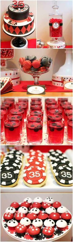 I am so doing this for James' 40th! Party Theme ● Poker Party Dessert Table