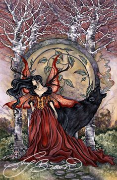 Amy Brown Beauty and the Beast (Fairy & Wolf)