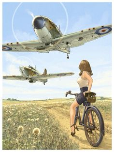 I have this print at home reproduced as a poster as for an air show. Romain Hugault art.