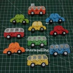 Quilled cars and buses