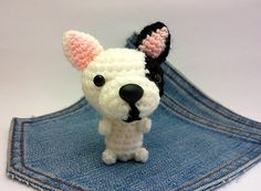 Amigurumi #french #bulldog Puppy #Dog toy by Owlystore