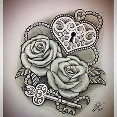 heart and key tattoos designs - Google Search