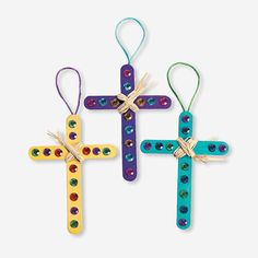 Raffia Cross Craft Kit - OrientalTrading.com