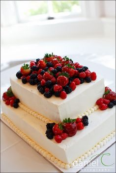 Four Layer Cake with Crème Chantilly & Berries | Recipe | Lace ...