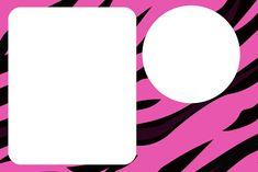 Zebra Pink Fundo Limpo - Kit Completo com molduras para convites, rótulos para guloseimas, lembrancinhas e imagens!
