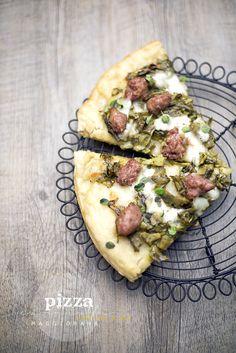 pizza carciofi e salsiccia by www.pane-burro.blogspot.it