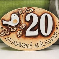m.fler.cz zbozi?uid=15952 House Plaques, House Number Plaque, Clay Houses, Ceramic Houses, Ceramic House Numbers, Pottery Houses, Door Numbers, Happy Art, Ceramic Pottery