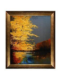 """Justyna Kopania """"Autumn (Colors Of Fall)"""" Framed Giclée on Canvas"""